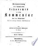 Erl Uterung Des In Deutschland Blichen Lehnrechts In Einem Kommentar Ber Die B Hmerschen Principia Juris Feudalis Dritte Auflage