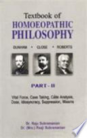 Textbook of Homeopathic Philosophy