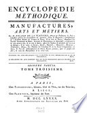 Encyclop  die M  thodique  Manufactures  Arts Et M  tiers