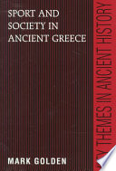 Sport and Society in Ancient Greece