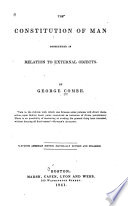 The Constitution Of Man book