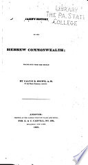 Jahn s History of the Hebrew Commonwealth