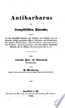 Antibarbarus der französischen Sprache