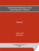 International Monetary Fund Administrative Tribunal Reports Volume Iii 2003 2004 Epub