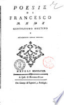 Poesie di Francesco Redi gentiluomo aretino e accademico della Crusca