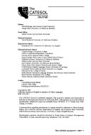 The CATESOL Journal