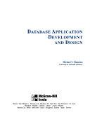 Database Application Development and Design
