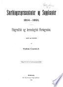 Storthingsrepræsentanter og suppleanter 1814-1891