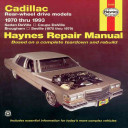 Cadillac Rear Wheel Drive Automotive Repair Manual
