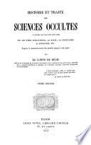 Histoire et trait   des sciences occultes