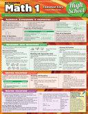 Math 1 Common Core 9Th Grade