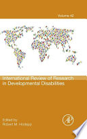 International Review Of Research In Developmental Disabilities book