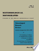 Meteorological Research Reviews book