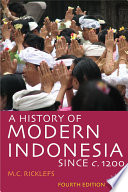 A History Of Modern Indonesia Since C 1200