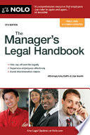 Manager s Legal Handbook  The