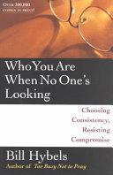 Book Who You are when No One's Looking