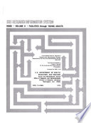 Srs Research Information System Index Volume Ii Facilities Through Young Adults