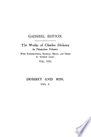 Dealings with the Firm of Dombey and Son  Vol  I    Paperbound