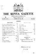 The Kenya Gazette