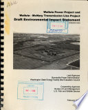Wallula Power Project and Wallula-McNary Transmission Line Project