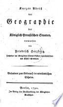 Kurzer abriss der geographie der k  niglich preussischen staaten