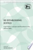 Re establishing Justice Book PDF