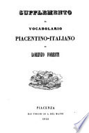 Vocabolario piacentino italiano