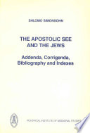 The Apostolic See and the Jews