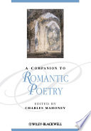 A Companion To Romantic Poetry book