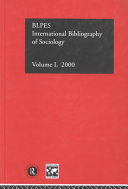 International Bibliography of Sociology 2000