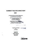 Summer Theatre Directory 2001