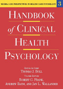 Handbook of Clinical Health Psychology  Models and perspectives in health psychology