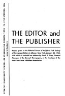 Ebook The Editor and the Publisher Epub New York Society of Newspaper Editors Apps Read Mobile