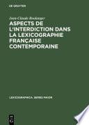 Aspects de l'interdiction dans la lexicographie française contemporaine
