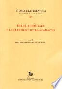 Hegel  Heidegger e la questione della romanitas
