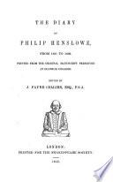 The Diary of Philip Henslowe