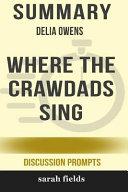 Summary: Delia Owens' Where the Crawdads Sing Pdf/ePub eBook