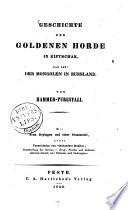Geschichte der Goldenen Horde in Kiptschak das ist: der Mongolen in Russland
