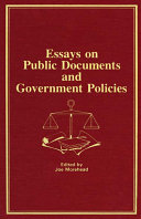 Essays on Public Documents and Government Policies