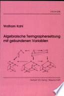 Algebraische Termgraphensetzung mit gebundenen Variablen
