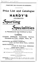 Price List And Catalogue Of Hardy S Celebrated Sporting Specialities : ...