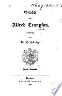 Gedichte von Alfred Tennyson  Uebersetzt von W  Hertzberg  Zweite Ausgabe