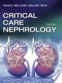 Critical Care Nephrology E Book
