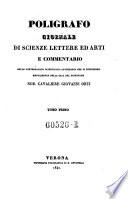 Poligrafo  Giornale di scienze lettere ed arti