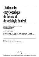 Dictionnaire Encyclop Dique De Th Orie Et De Sociologie Du Droit