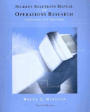 Student Solutions Manual for Operations Research