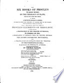 The    Six Books of Proclus Book PDF