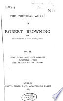 The Poetical Works of Robert Browning Book PDF