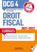 Dcg 4 Droit Fiscal Corrig S 2021 2022