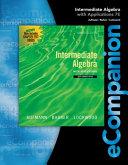 eCompanion for Aufmann/Lockwood's Intermediate Algebra